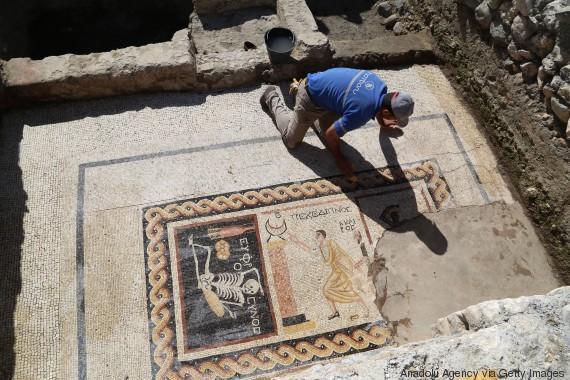 2,400 year-old mosaic found in Turkey's Hatay says