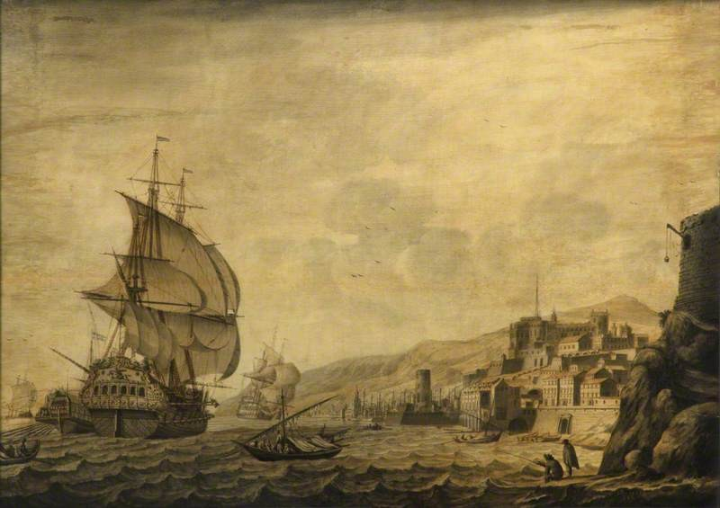 A Dutch Ship Arriving at Naples