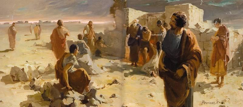 Выход из катакомб после моления (1903)
