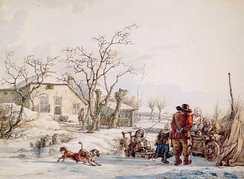 Abraham van Strij Winter Landscape.