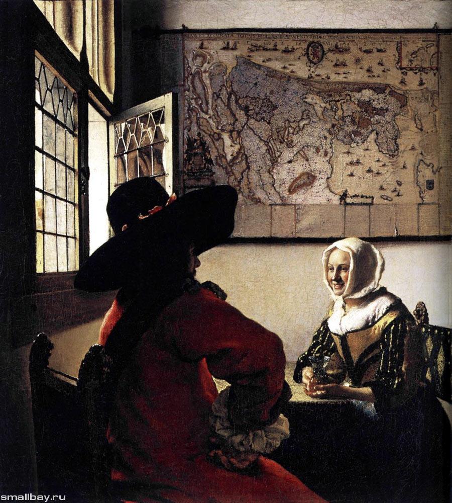 Офицер и веселая девушка, 1657