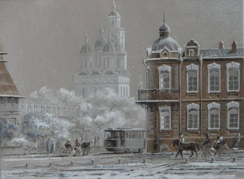 Кремль, акварель