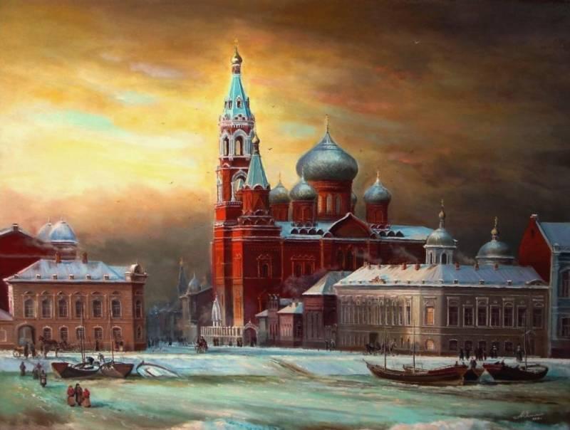 Старая Астрахань, Казанский Собор, оргалит, масло