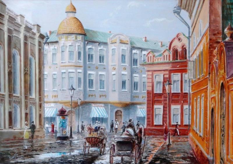 Старая Астрахань, ул. Тургенева, акварель