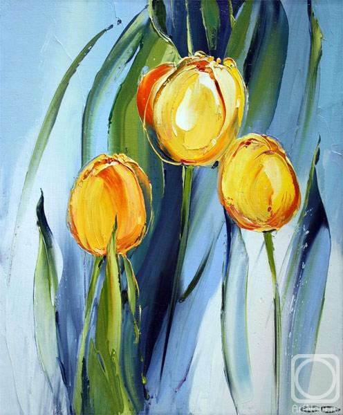 Жёлтые тюльпаны.....