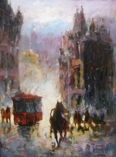 Трамвай и лошадка