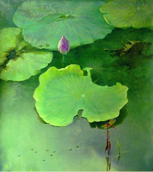 Jiang-Debin_-TSvetyi-akvarelyu_-Watching-_-110h100