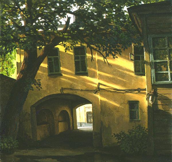 Двор в Чистом переулке. Вечер