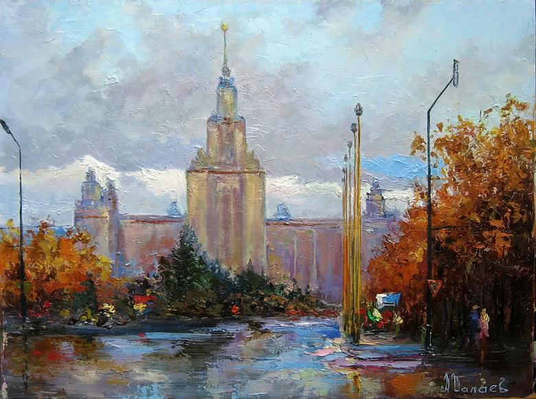 Вид на здание МГУ