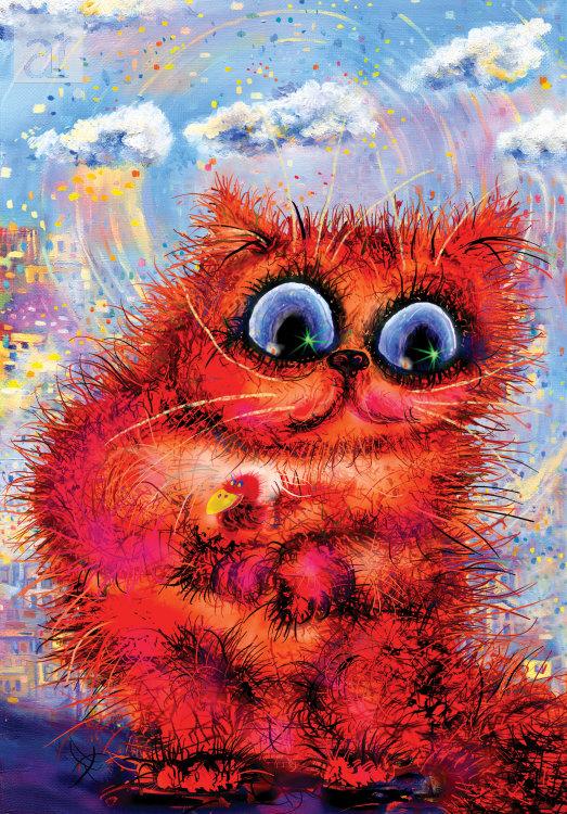 Кот с красной ласточкой