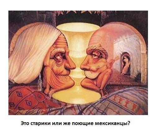 Двойственные изображения-Зрительные иллюзии18