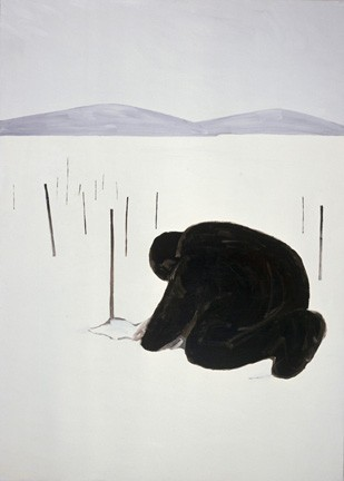 Workuta - cmentarz II,1989,akryl,plotno,210x150cm,