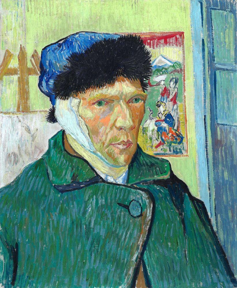 Автопортрет с отрезанным ухом Ван Гог 1889