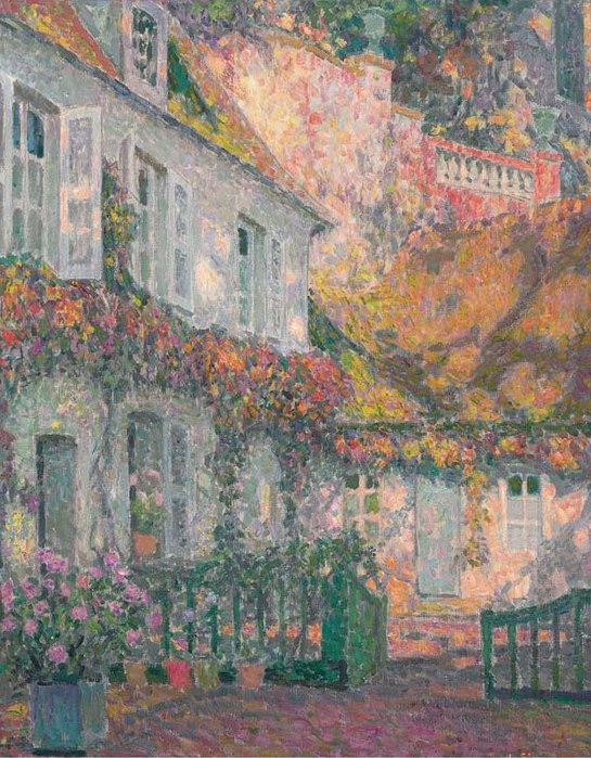 60925805_Henri_Le_Sidaner_French_18621939_VMansion_in_the_AfternoonV_