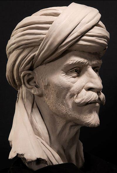 Philippe-Faraut.-Skulptura-iz-glinyi.-Beduin