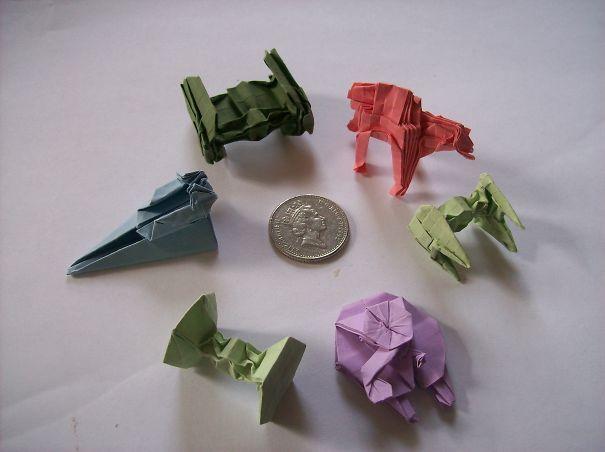 Tiny Star Wars Origami models by Martin Hunt
