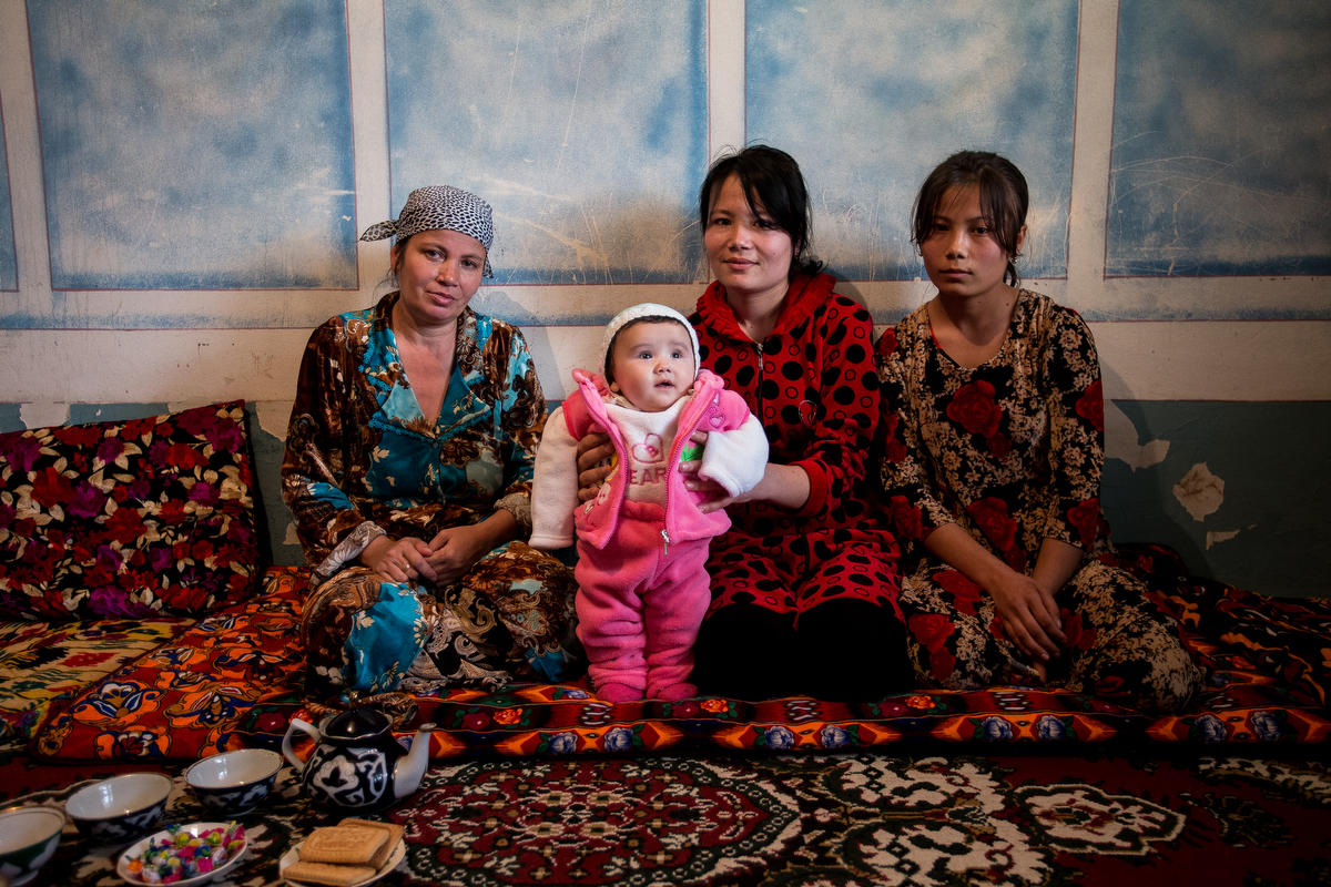 Bukhara. Uzbekistan. The family of the deceased migrant worker. The youngest daughter was born after his father's death.More than 10 million people from Central Asia migrate to Russia every year in search of work. The lives of millions of families dep