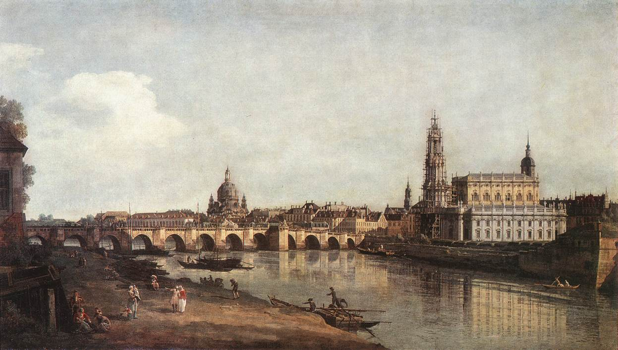 «Дрезден с правого берега Эльбы