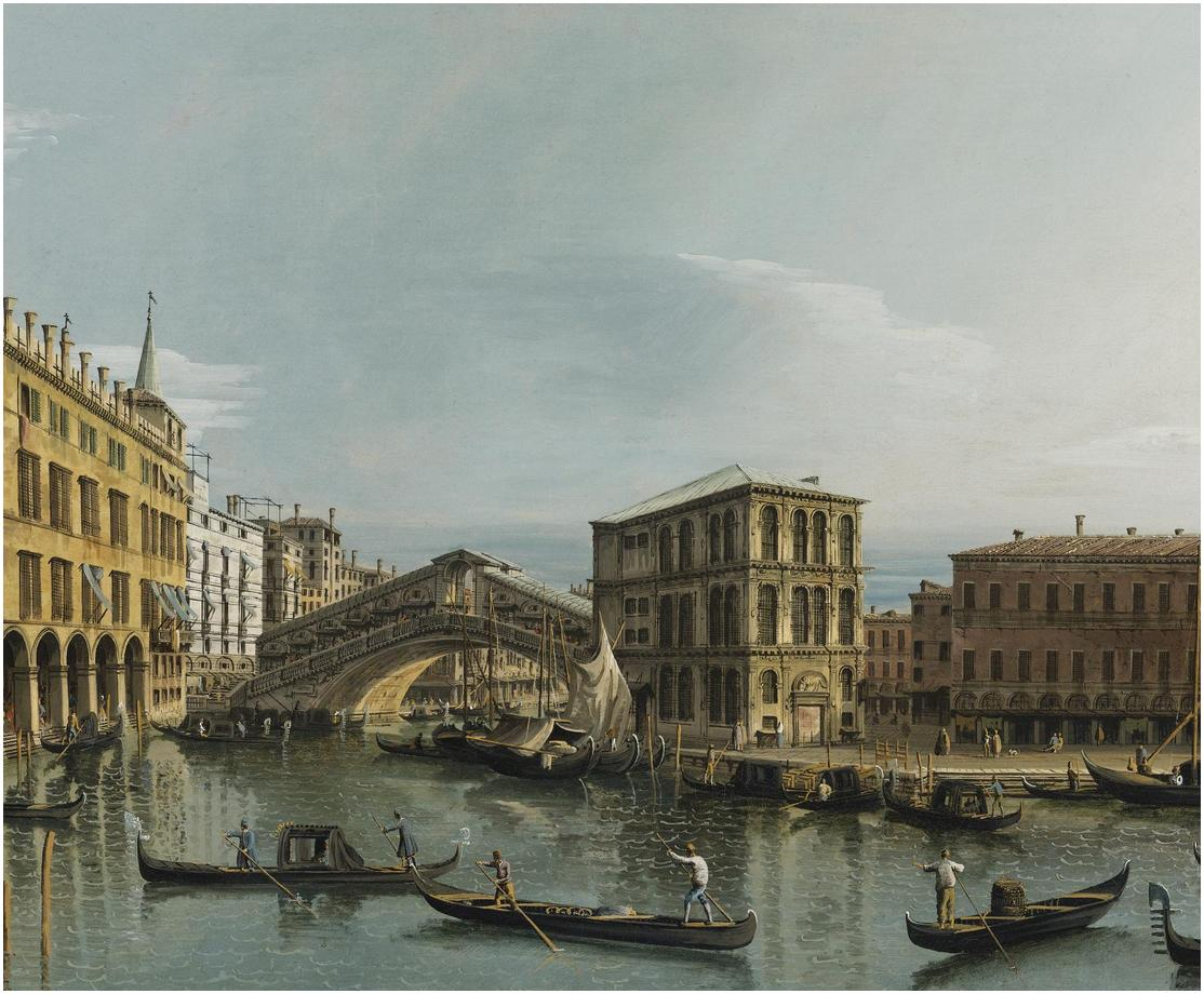 [[[ BERNARDO BELLOTTO (VENICE 1721 - 1780 WARSAW).VENICE.  oil on canvas  65.1x86 cm