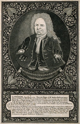V0007013 Matthias Buchinger, a phocomelic. Engraving after a self porCredit: Wellcome Library, London. Wellcome Imagesimages@wellcome.ac.ukhttp://images.wellcome.ac.ukMatthias Buchinger, a phocomelic. Engraving after a self portrait.1724 By: Mat