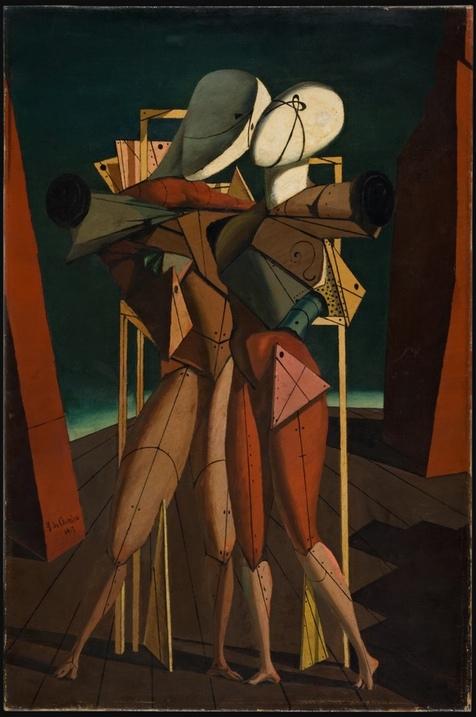 Giorgio de Chirico's Hector and Andromache (1917).