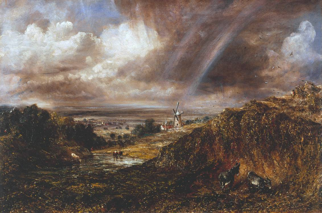 Hampstead Heath with a Rainbow 1836 by John Constable 1776-1837