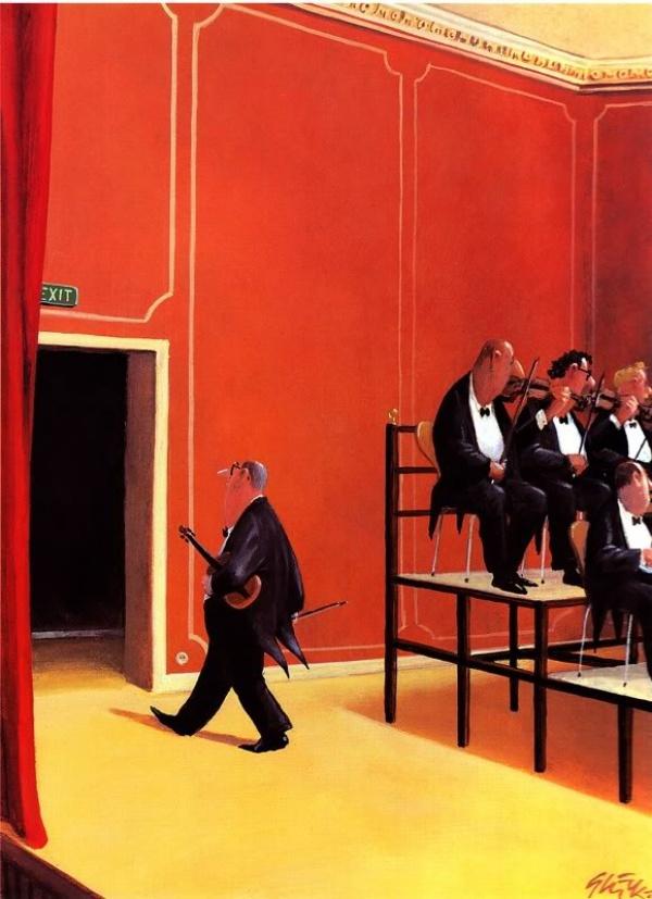 В очередной раз, Поль Бакле, закончил раньше оркестра