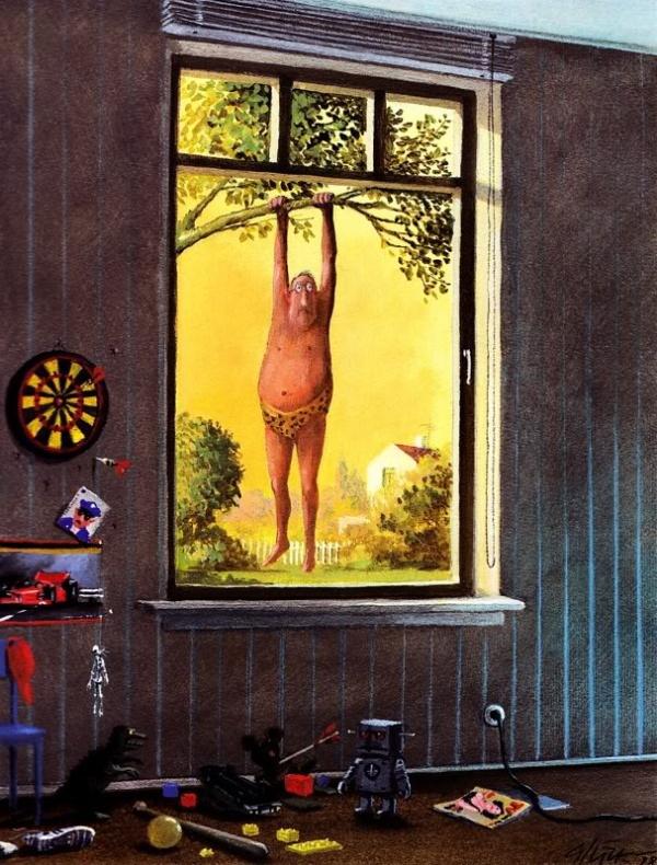 Жан-Клодт Л. предпринимал все возможное чтобы отвлечь детей от телевизора