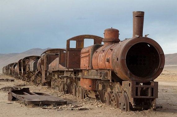 Кладбище поездов. Уюни, Боливия
