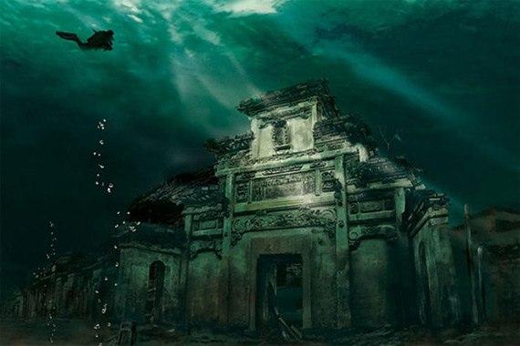 Подводный город. Shicheng, Китай