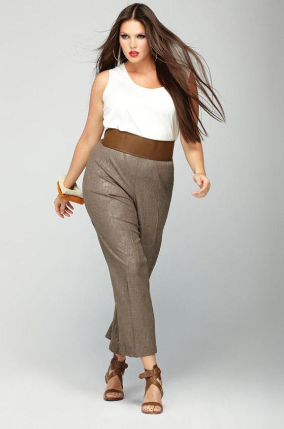 Модели брюк для полных