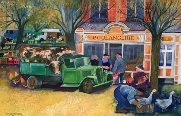La Boulangerie (w/c and gouache on paper)