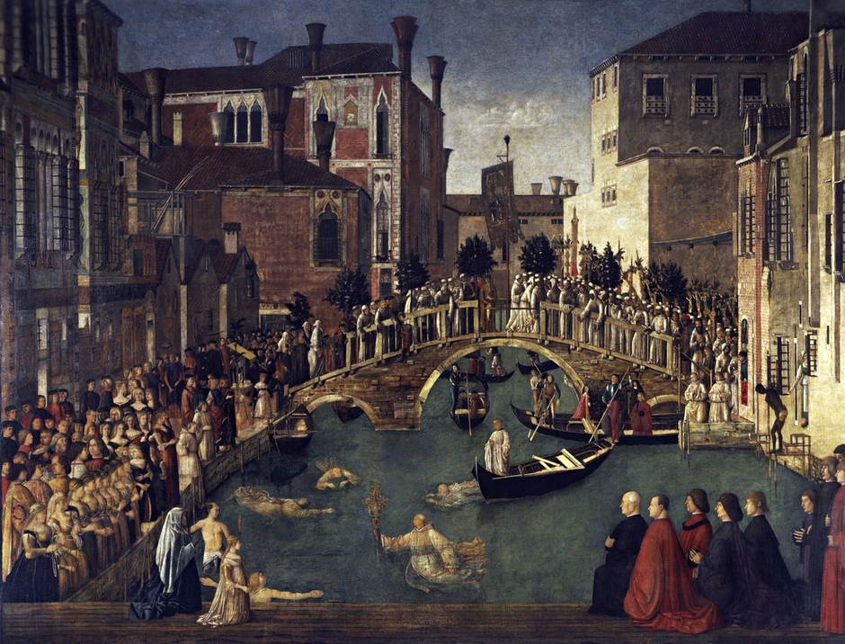 swimmers Miracle of the Cross at the Bridge of San Lorenzo
