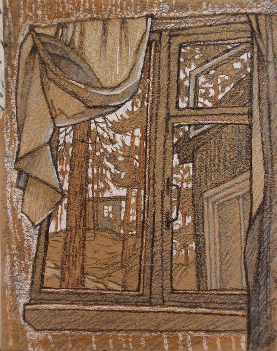 Окно с занавеской