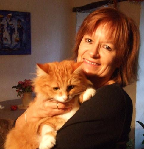 Nicole et son chat
