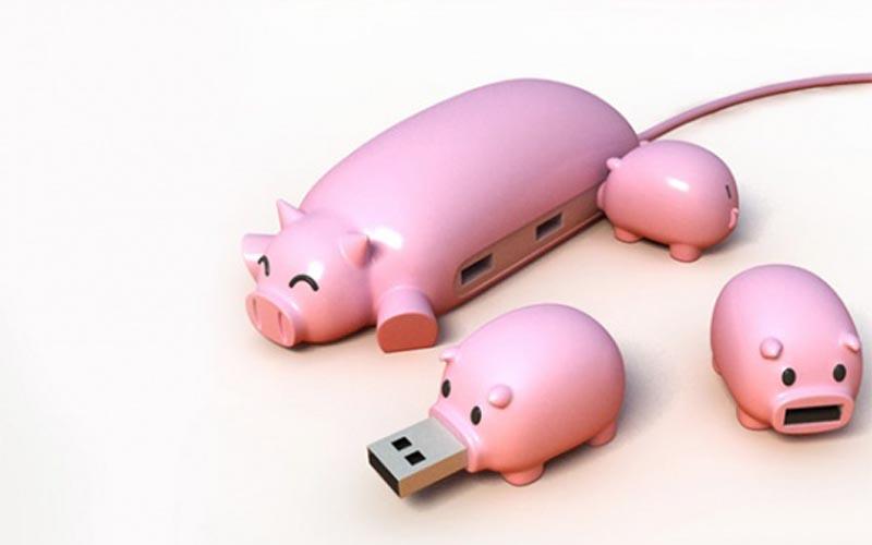 Хаб – свинка с поросятами – флешками