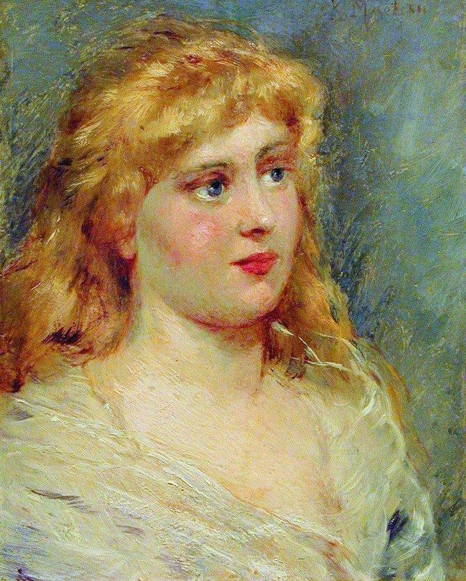 Портрет блондинки. 1900-е