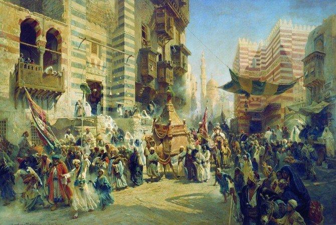 Перенесение священного ковра в Каире. 1876