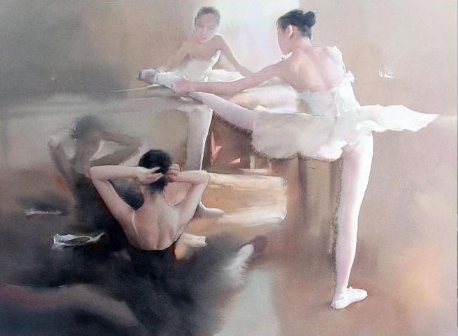 Liu Yi 1958 - Chinese Watercolour painter - Tutt'Art@ (8)