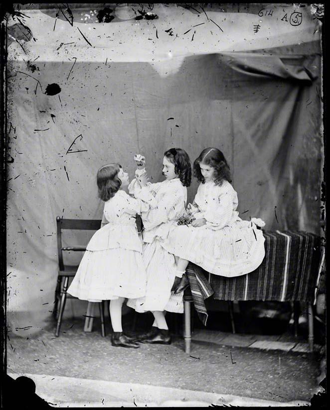 NPG P991(9); Edith Mary Liddell; Ina Liddell; Alice Liddell by Lewis Carroll (Charles Lutwidge Dodgson)