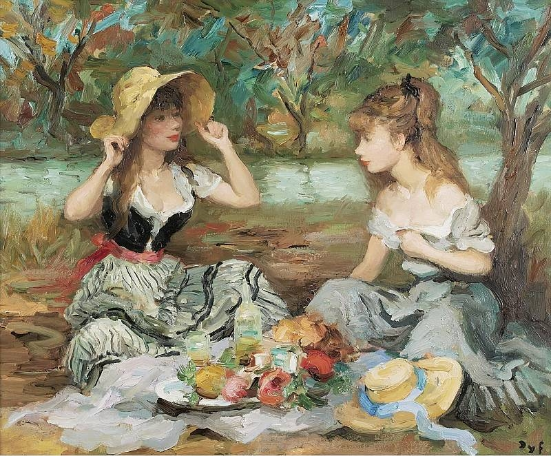 Marcel Dyf 1899-1985 - French  Impressionist Painter - Lady Claudine - Tutt'Art@ (11)