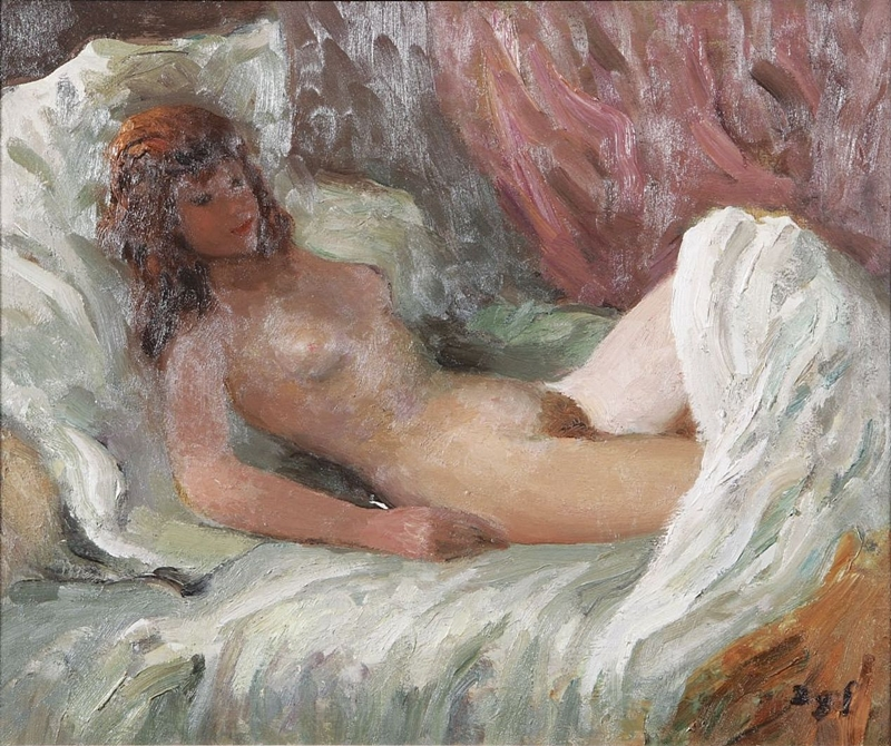 Marcel Dyf 1899-1985 - French  Impressionist Painter - Lady Claudine - Tutt'Art@ (12)