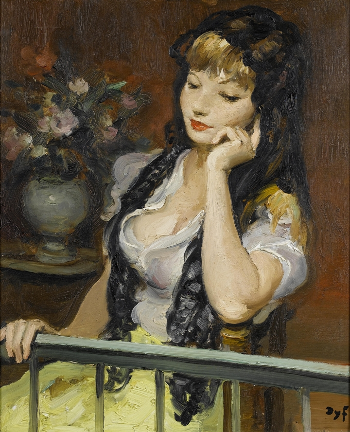 Marcel Dyf 1899-1985 - French  Impressionist Painter - Lady Claudine - Tutt'Art@ (6)