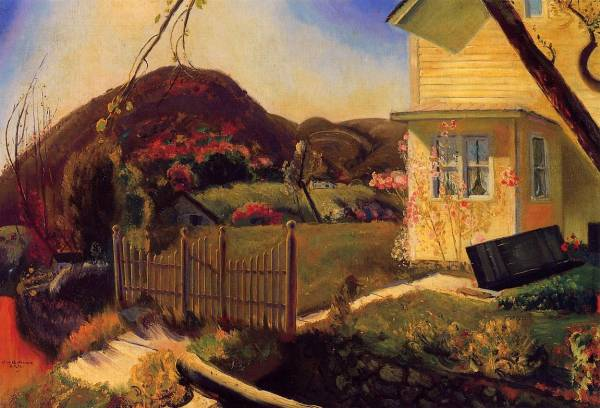 posterlux-bellows_george_wesley_1882_1925-the_picket_fence