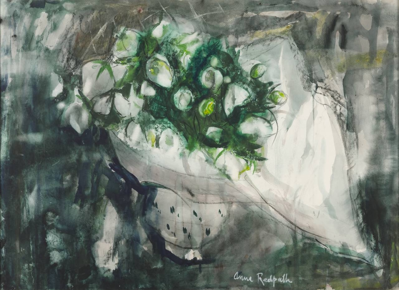 Lenten Roses 1960 by Anne Redpath 1895-1965