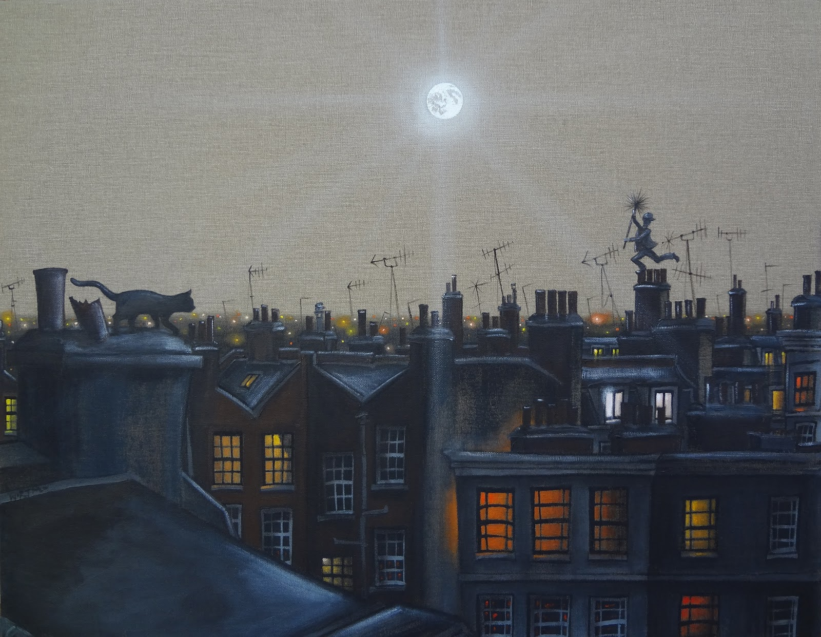 The cat the moon and the chimney sweep