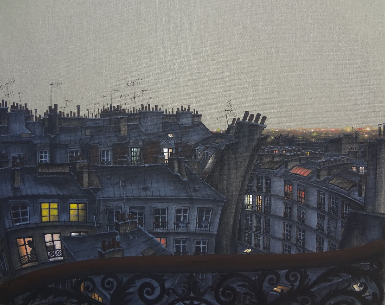 View from a balcony in Montmartre