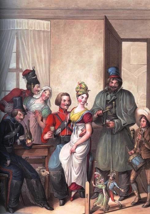 Георг-Эммануэль Опиц (1775-1841) Кукольное представление в кафе