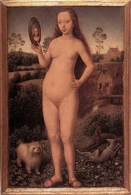 Ханс Мемлинг. «Суета земная». Центральная часть триптиха. 1485 г