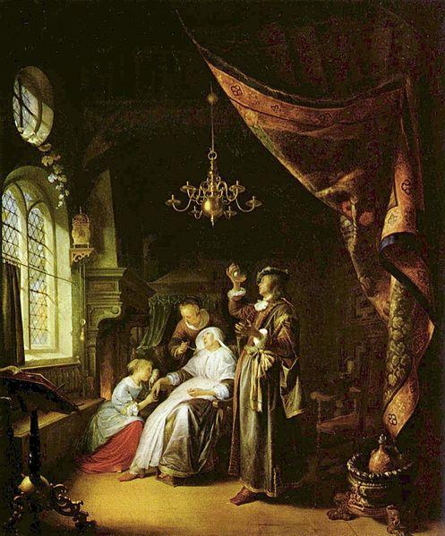 Герард Доу  1663 Больная